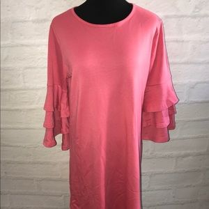 Simply Southern pink mid thigh 3/4 sleeve sz large